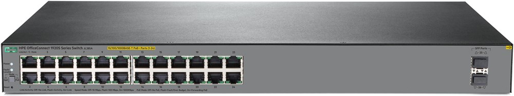 HPE OfficeConnect 1920S 24G 2SFP-PoE+ Switch