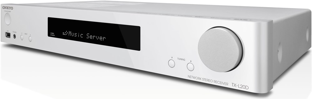 onkyo tx l20d w av stereo receiver wei av receiver computeruniverse. Black Bedroom Furniture Sets. Home Design Ideas