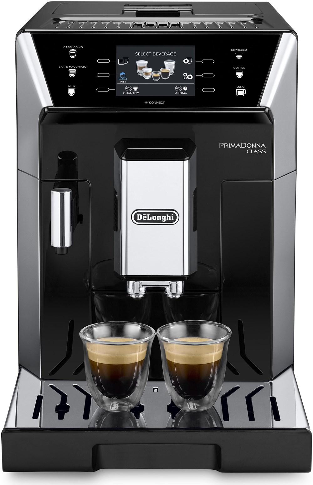 delonghi primadonna ecam class schwarz silber kaffeevollautomaten computeruniverse. Black Bedroom Furniture Sets. Home Design Ideas