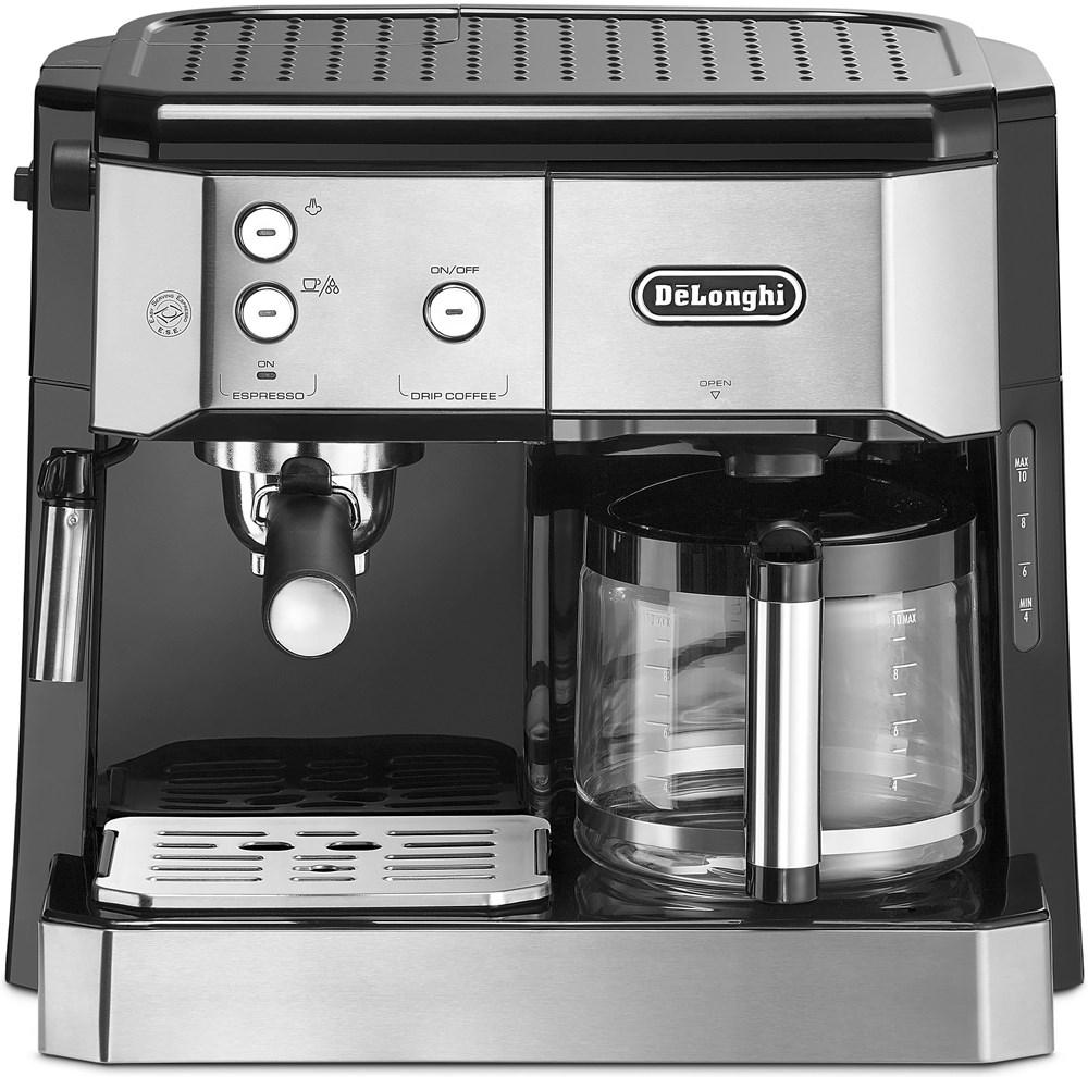 delonghi bco 421 s kombi kaffeemaschine silber schwarz espresso machine computeruniverse. Black Bedroom Furniture Sets. Home Design Ideas