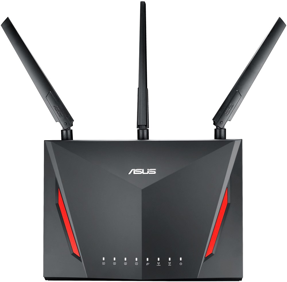asus rt ac86u gaming router ac2900 wireless lan routers accesspoints computeruniverse. Black Bedroom Furniture Sets. Home Design Ideas