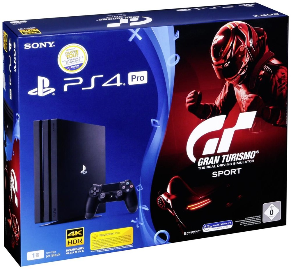 sony playstation 4 pro 1tb gt gran turismo sport ps4 sony playstation 4 consoles. Black Bedroom Furniture Sets. Home Design Ideas