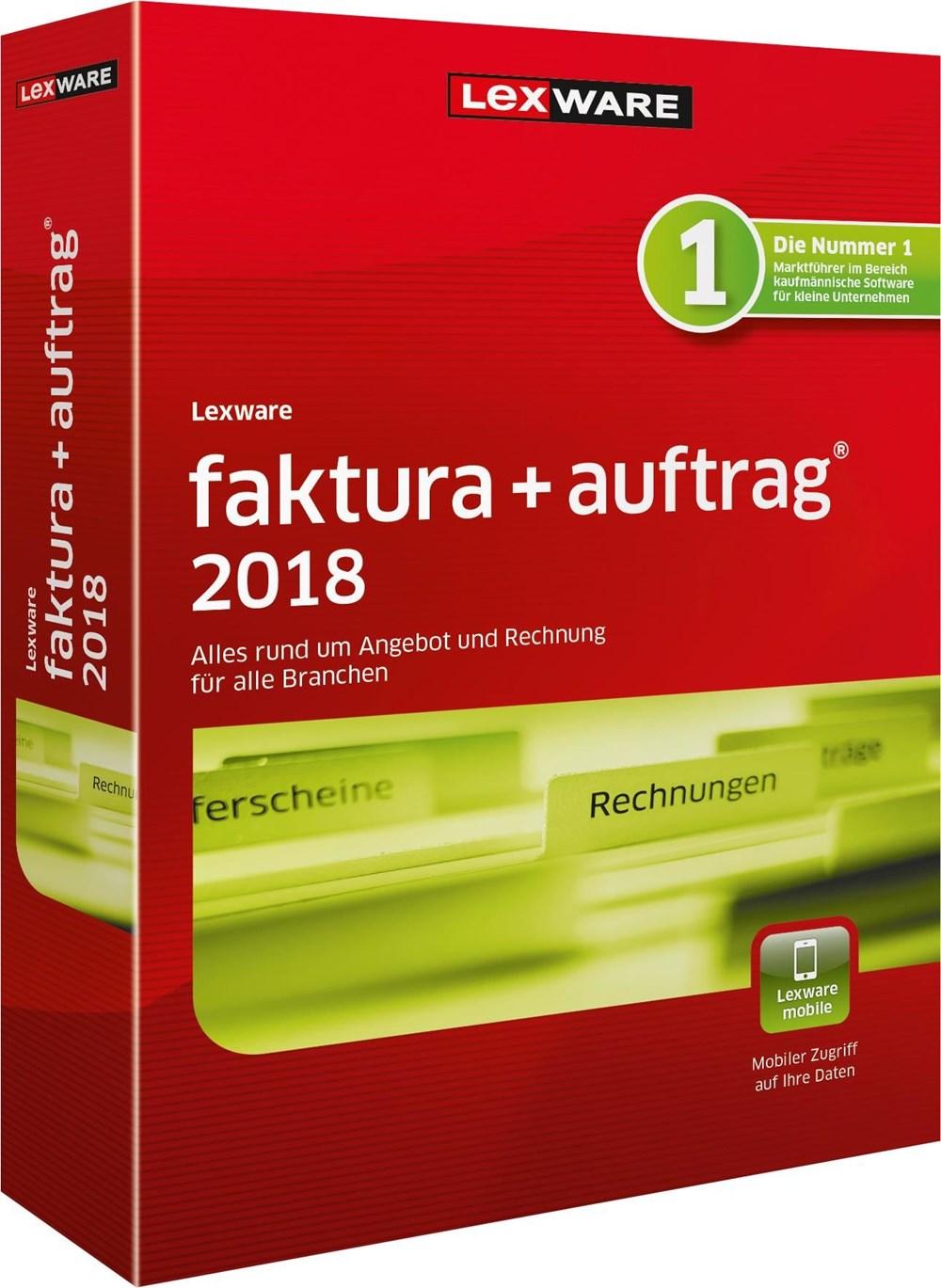 Lexware Faktura+Auftrag 2018 FFP Jahresversion 365-Tage jetztbilligerkaufen