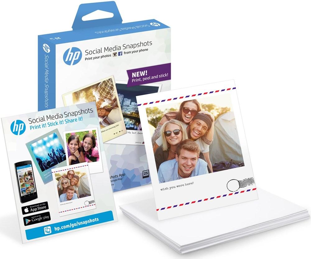 HP Social Media Snapshots 10x13 25 Blatt 265 g