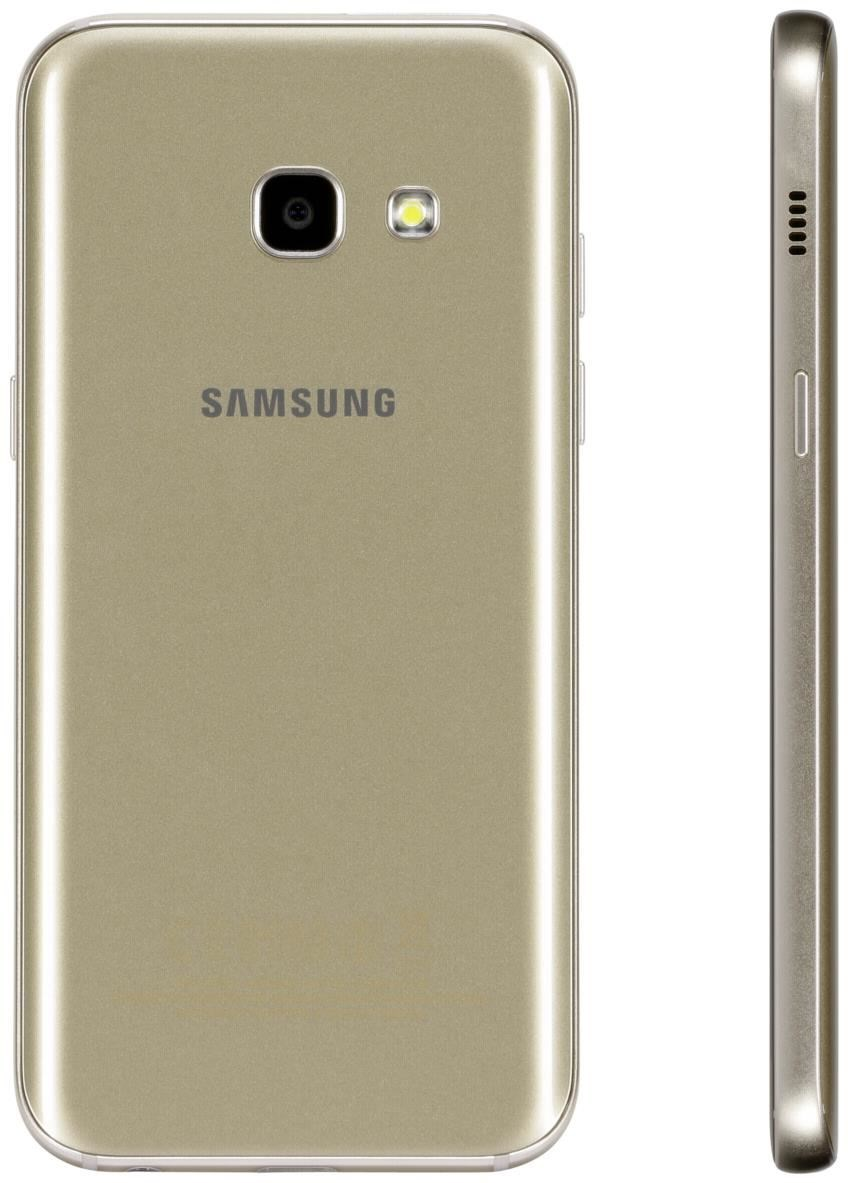 samsung galaxy a3 2017 android 16gb gold sand smartphones handys computeruniverse. Black Bedroom Furniture Sets. Home Design Ideas