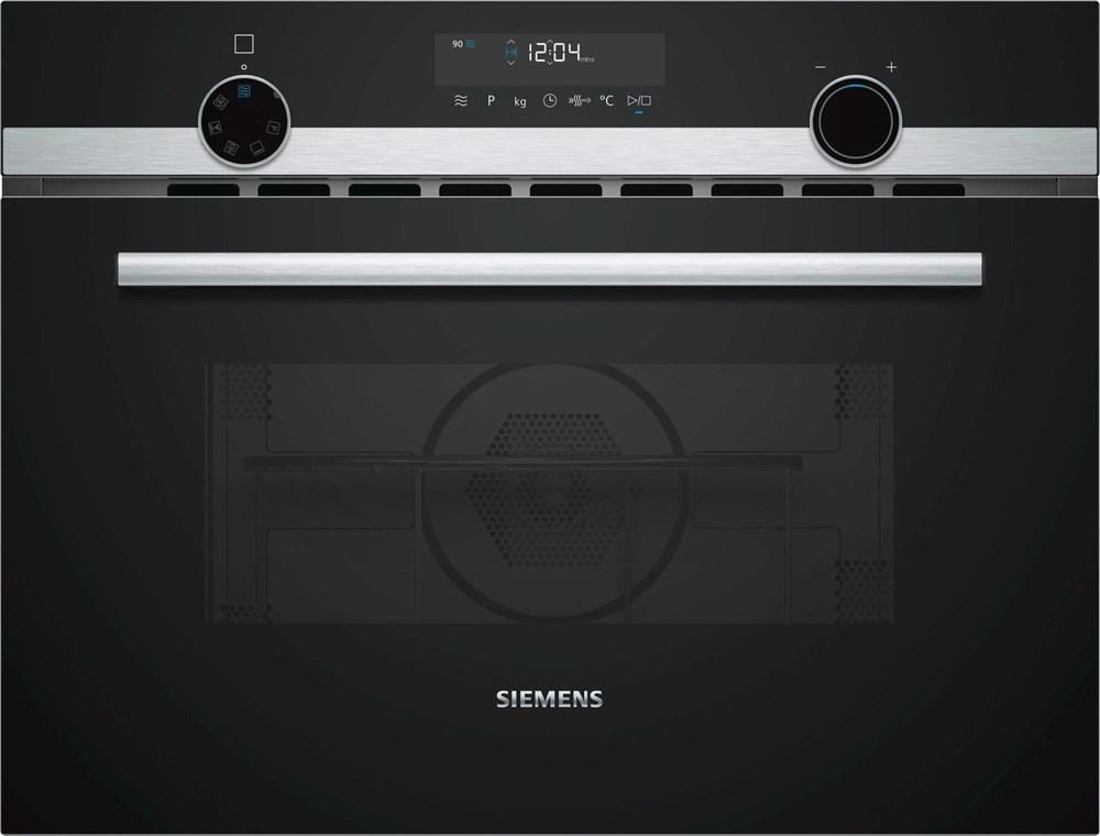 siemens iq500 cm585ams0 45cm kompakt einbaubackofen mit mikrowellenfunktion einbauback fen. Black Bedroom Furniture Sets. Home Design Ideas