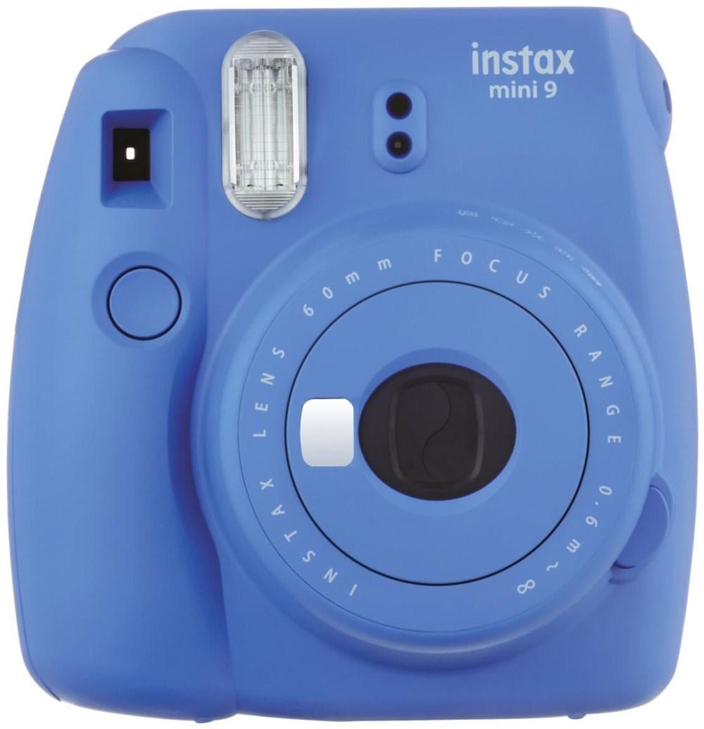 fujifilm instax mini 9 kamera film bundle cobalt blue digital cameras computeruniverse. Black Bedroom Furniture Sets. Home Design Ideas