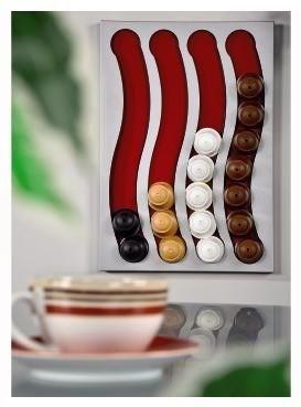xavax kaffee kapselhalter pendolare iii f r dolce gusto 32 silber matt zubeh r. Black Bedroom Furniture Sets. Home Design Ideas