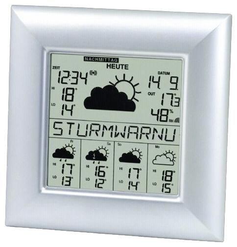 Proficell technoline WD 9000 Elektronische Wetterstation silber - Preisvergleich