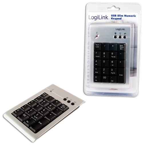 LogiLink Nummernblock silber/schwarz