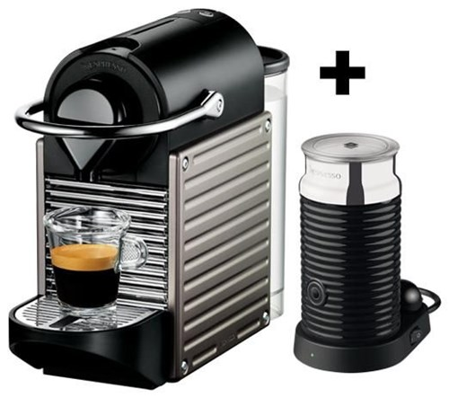 krups pixie xn 301t nespresso titan inkl aeroccino 3 coffee pod capsule machines. Black Bedroom Furniture Sets. Home Design Ideas