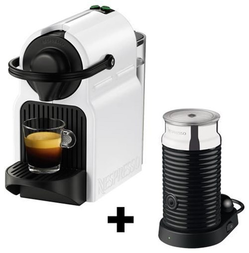 krups inissia nespresso xn1011 bundle white mit aeroccino coffee pod capsule machines. Black Bedroom Furniture Sets. Home Design Ideas