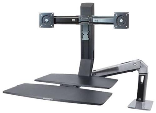 Ergotron 2fach Monitor-Tischhalterung 25,4cm (10 ) - 61,0cm (24 Neigbar+Schwenkbar, Rotierbar Work jetztbilligerkaufen