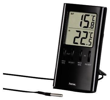 Hama LCD-Thermometer T-350 schwarz - Preisvergleich