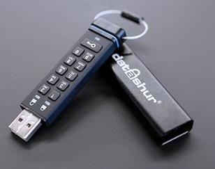 iStorage datAshur USB2.0 Flash Drive 4GB mit PIN-Schutz schwarz