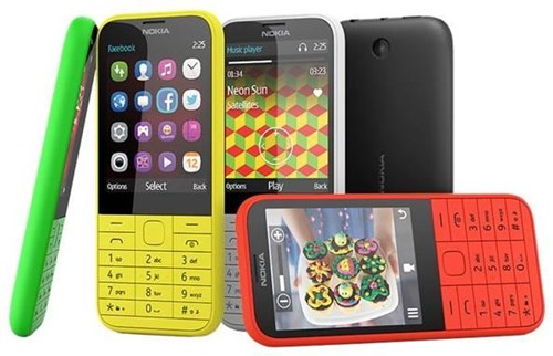 Nokia 225 Dual-SIM  8 MB Barren Handy ohne Vertrag/SIMlock,  gelb (Handy)