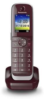 Panasonic KX-TGJA30EXR Mobilteil/Ladeschale weinrot (Telefon)