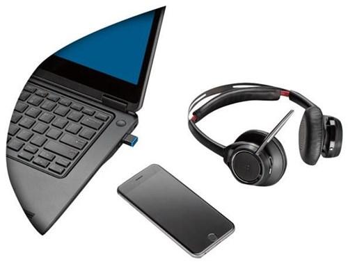Plantronics Voyager Focus UC B825 inkl. Station Bluetooth Headsetsystem/ Binaurales Modell /Tischladegerät - Preisvergleich