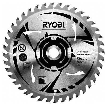 Ryobi CSB165A1 HM-Sägeblatt 40 Z Ø 165/16 mm
