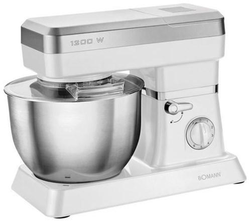 Clatronic KM 399 CB Küchenmaschine mit Mixaufsatz weiß