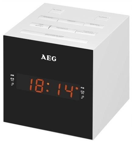 AEG MRC 4150 Uhrenradio USB-Ladeport weiß
