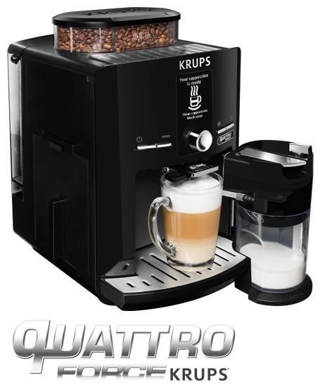 krups ea82f8 latt espress quattro force one touch kaffeevollautomat schwarz. Black Bedroom Furniture Sets. Home Design Ideas