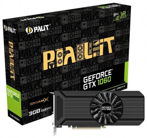 palit geforce gtx1060 stormx 3gb pci express graphics. Black Bedroom Furniture Sets. Home Design Ideas