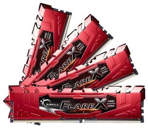 G.Skill FlareX Red 32GB DDR4 32GFXR Kit 2400 CL15 (4x8GB) F4-2400C15Q-32GFXR