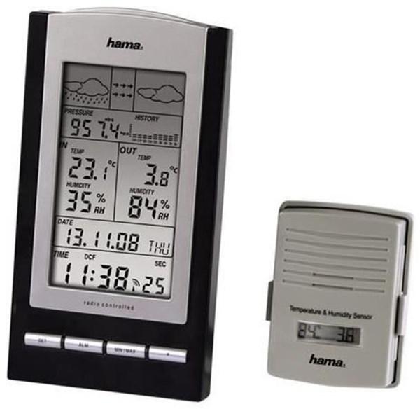 Hama EWS-800 Elektronische Wetterstation schwarz/silber - Preisvergleich