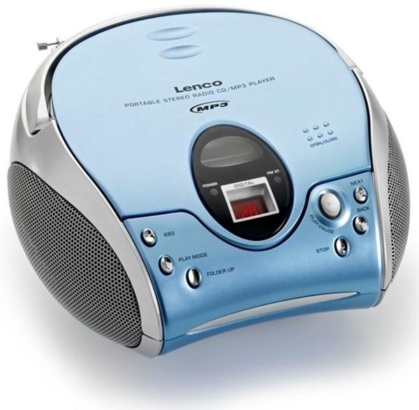 lenco scd 24 mp3 blau cd player mit repeat funktion. Black Bedroom Furniture Sets. Home Design Ideas