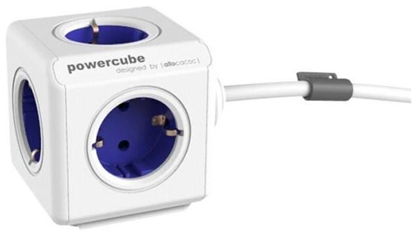 allocacoc powercube extended inkl kabel type f blau steckdosenleisten stromkabel. Black Bedroom Furniture Sets. Home Design Ideas
