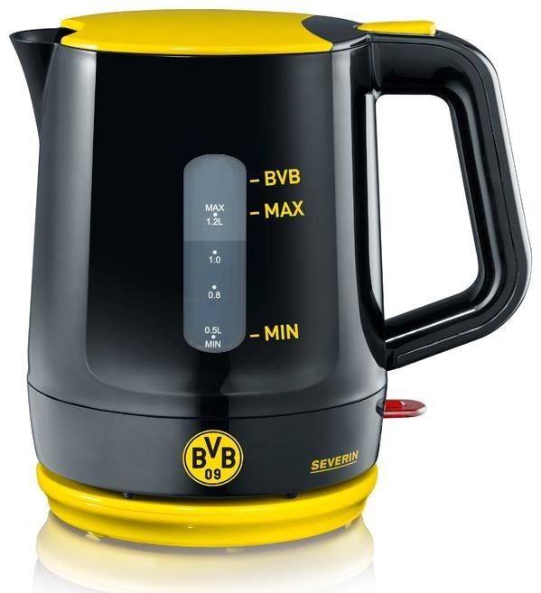 Severin WK9742 BVB Wasserkocher schwarz  gelb  Kettles