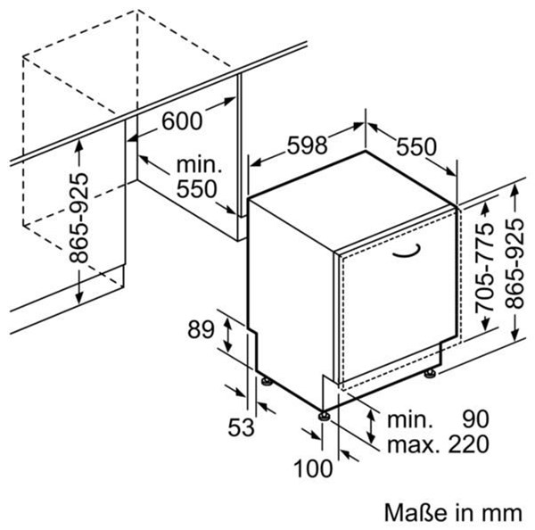 Bosch SBV46MX01E Einbaugeschirrspüler - Fully integrated ... | {Einbaugeschirrspüler 30}