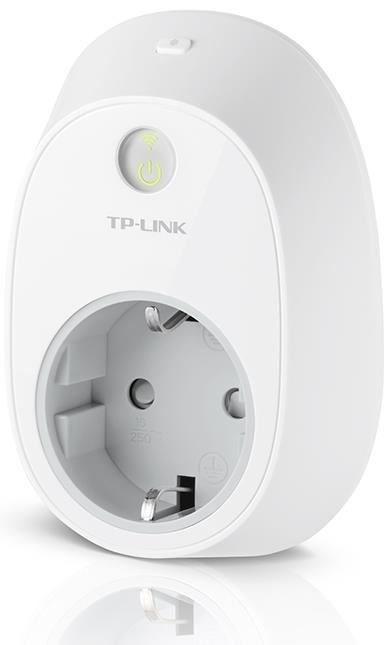 tp link hs100 intelligente wlan steckdose smart home energiesparen computeruniverse. Black Bedroom Furniture Sets. Home Design Ideas