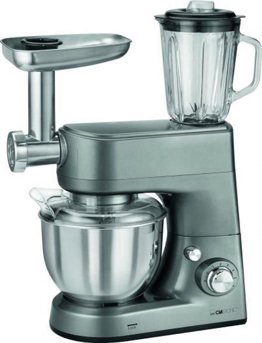 clatronic küchenmaschine mit mixaufsatz silber schwarz