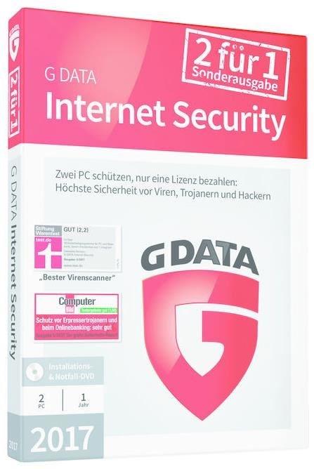 G Data InternetSecurity 2017 2 PC SE Windows - CD-ROM C1702BOX12002GE