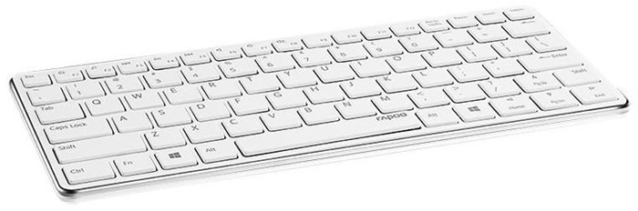 Rapoo E6350 Bluetooth Ultra-Slim Keyboard weiß / silber