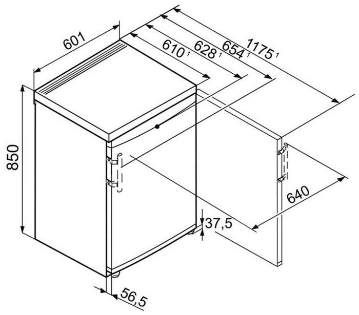 Liebherr TP 1720-21 Tischkühlschrank - Fridges - computeruniverse