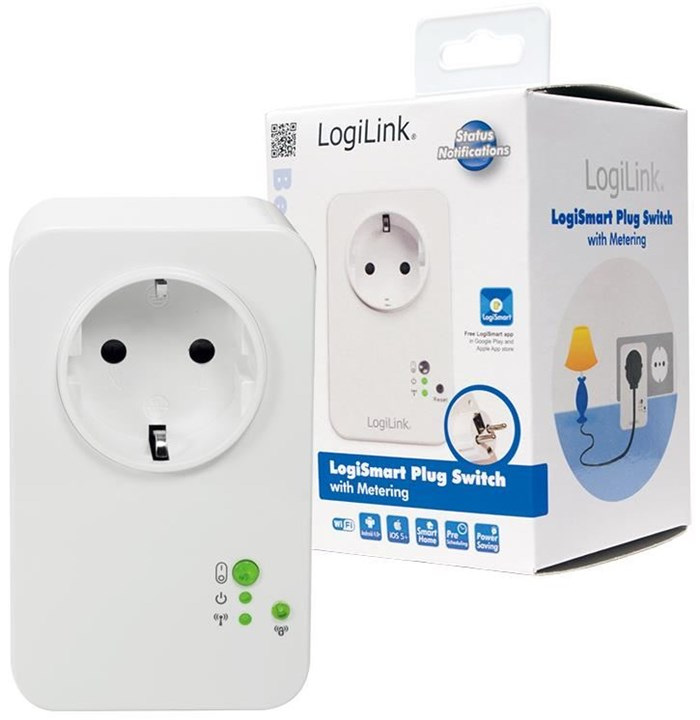 logilink pa0066 logismart meter wlan steckdose smart home energiesparen computeruniverse. Black Bedroom Furniture Sets. Home Design Ideas