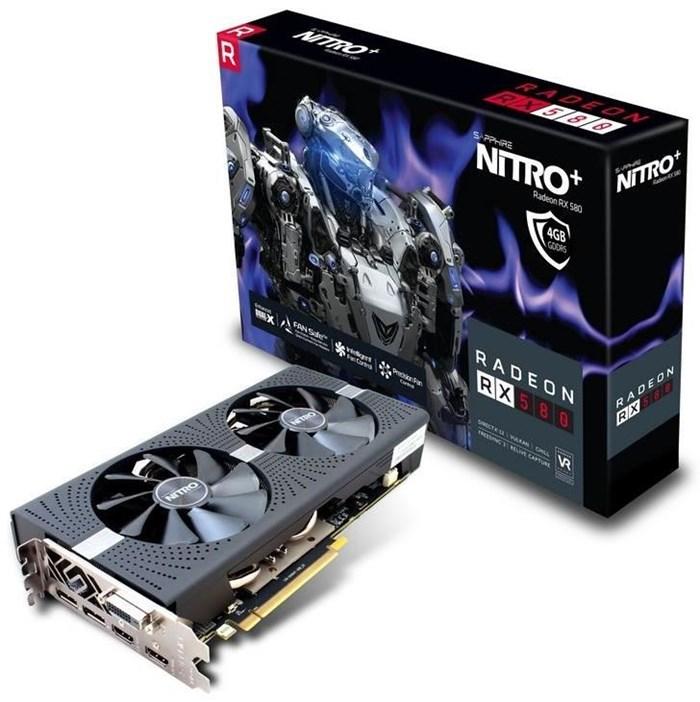 Sapphire NITRO+ RX 580 - Grafikkarten Radeon 4GB GDDR5 PCIe 3.0 x16 DVI, 2 x HDMI, DisplayPort Lite Retail (11265-07-20G) jetztbilligerkaufen