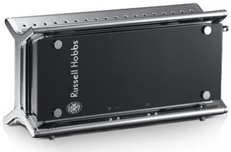 russell hobbs 20370 56 black glass toaster edelstahl schwarz toaster computeruniverse. Black Bedroom Furniture Sets. Home Design Ideas
