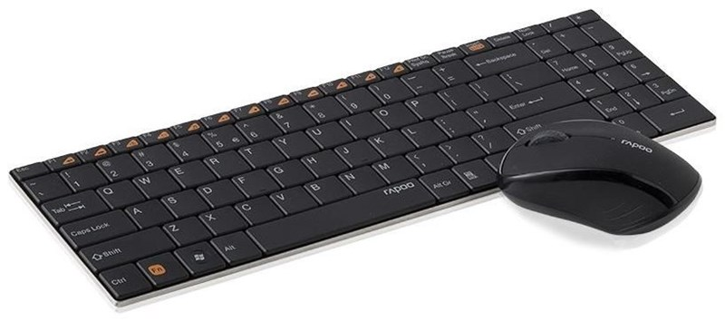 Rapoo 9060 Wireless Mouse and 2 Block Metal Keyboard Set Blade Series