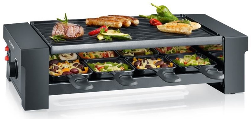 Severin RG2687 Pizza-Raclette Grill schwarz