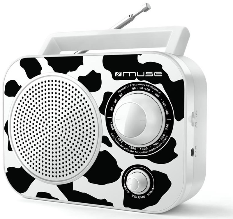 Muse M-060CW Kofferradio Kuh schwarz / weiß - Preisvergleich