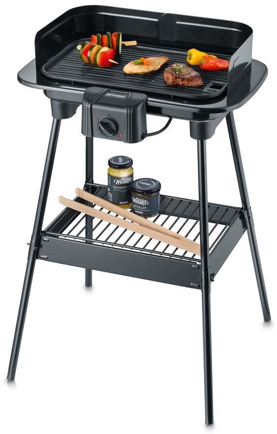 severin pg8534 barbecue grill schwarz grills computeruniverse. Black Bedroom Furniture Sets. Home Design Ideas