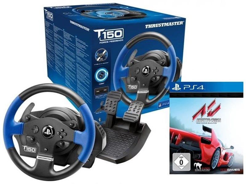thrustmaster t150 rs force feedback lenkrad inkl assetto. Black Bedroom Furniture Sets. Home Design Ideas