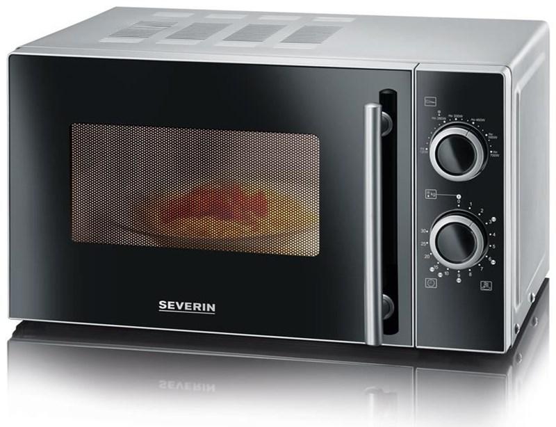 severin mw 7862 mikrowelle schwarz silber microwaves. Black Bedroom Furniture Sets. Home Design Ideas