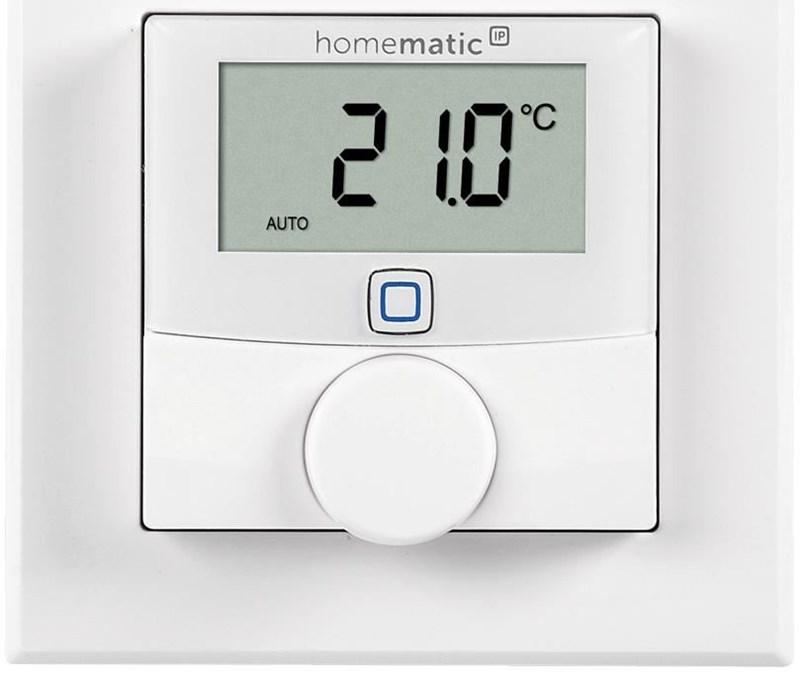 homematic ip wandthermostat mit schaltausgang f r markenschalter 24v smart home. Black Bedroom Furniture Sets. Home Design Ideas