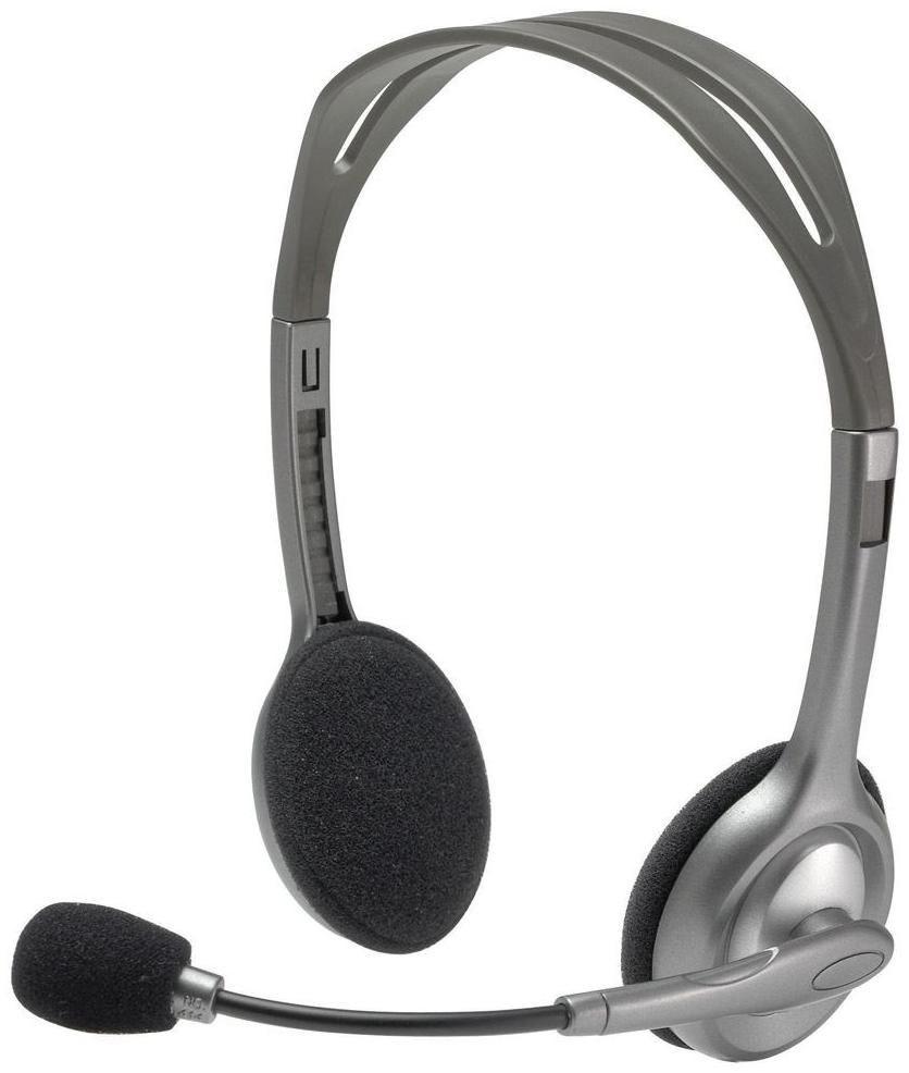 LOGITECH H110 Stereo Headset Mikrofon mit Rauschunterdrueckung 3,5mm Klinkenstecker