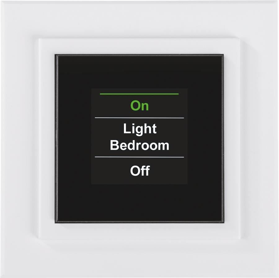 homematic funk display wandtaster aufputzmontage smart home energiesparen computeruniverse. Black Bedroom Furniture Sets. Home Design Ideas